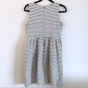 J. Crew Dresses - J Crew | Navy Striped Midi Dress Sz 2